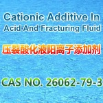 Cationic additive in acid and fracturing fluid